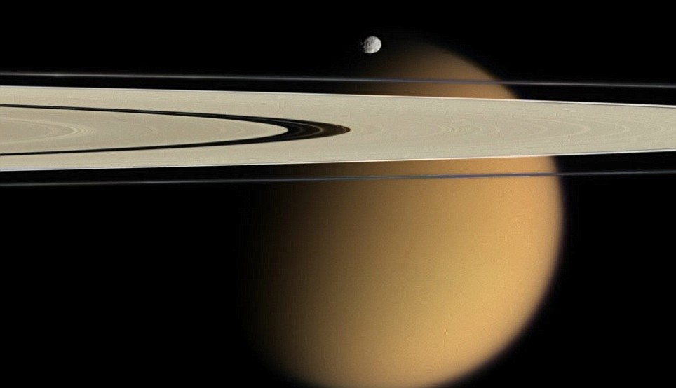 saturn moons and rings - photo #3
