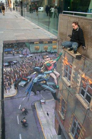 Julian Beever, Batman