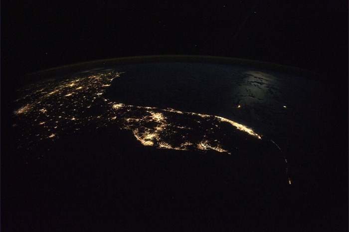view from space, florida
