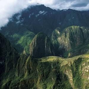 above, Machu Picchu, Peru