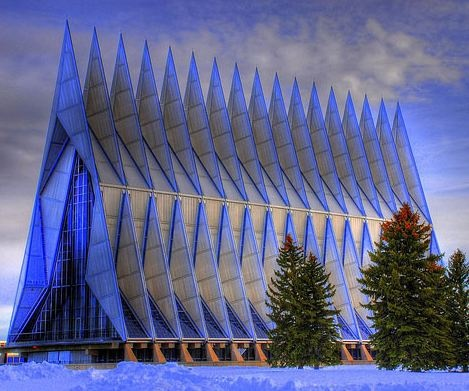 Air Force Academy Chapel. Colorado Springs, Colorado