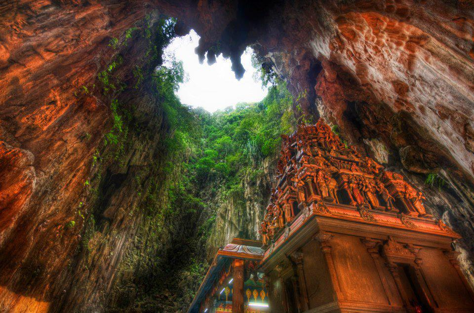 Temple Deep in the Caves, Borneo, Indonesia by Trey Ratcliff