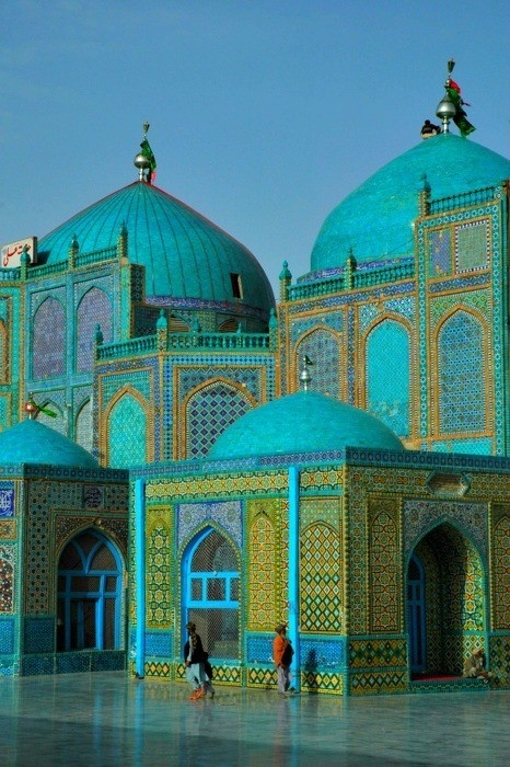Blue Mosque at Mazar e Sharif,  Afghanistan