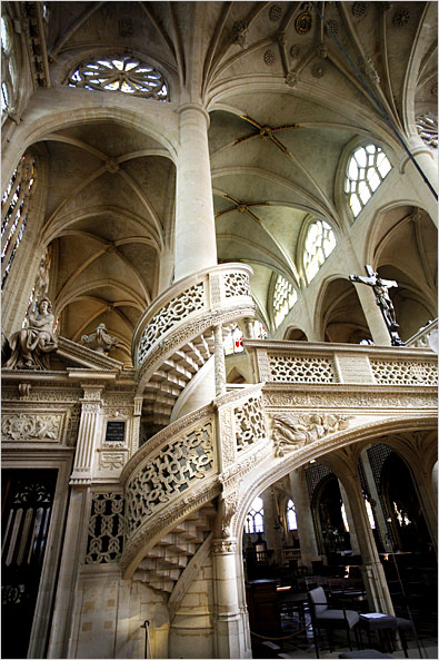 Spiral Staircase, St.Etienne du Mont, Paris, France