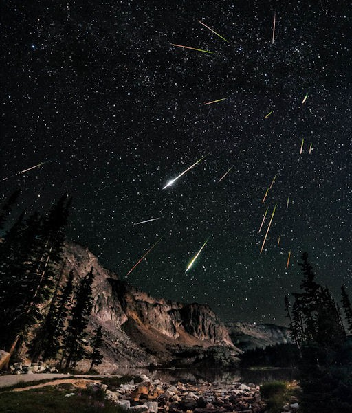 cosmic, comets and mts, see image credits, David Kingham observed dozens of Perseids over Snowy Range, Wyoming