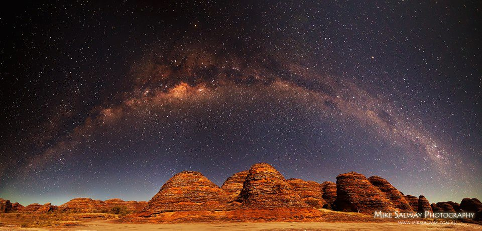 Ancient Arches – Milkyway Panorama by Mike Salway