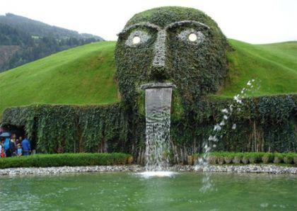 Swarovski Face Fountain, Wattens, Austria