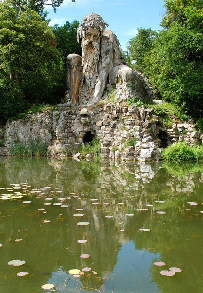 Statue known as the Apennine Colossus in garden of the Villa Demidoff di Pratolino, Tuscany, Italy