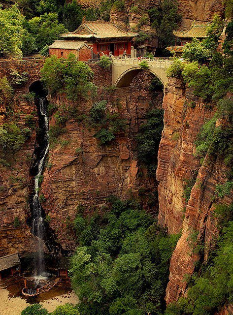 Cangyan Shan Falls in China by Penelope's Loom