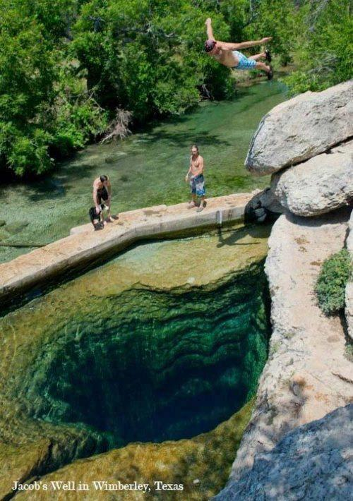 Jacob's Well, Wimberley, Texas, USA