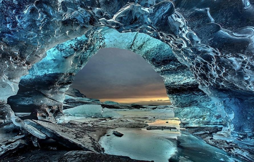 The Crystal Grotto, Iceland, photo by Christian Klepp.  Follow this link to find out more about this amazing place.