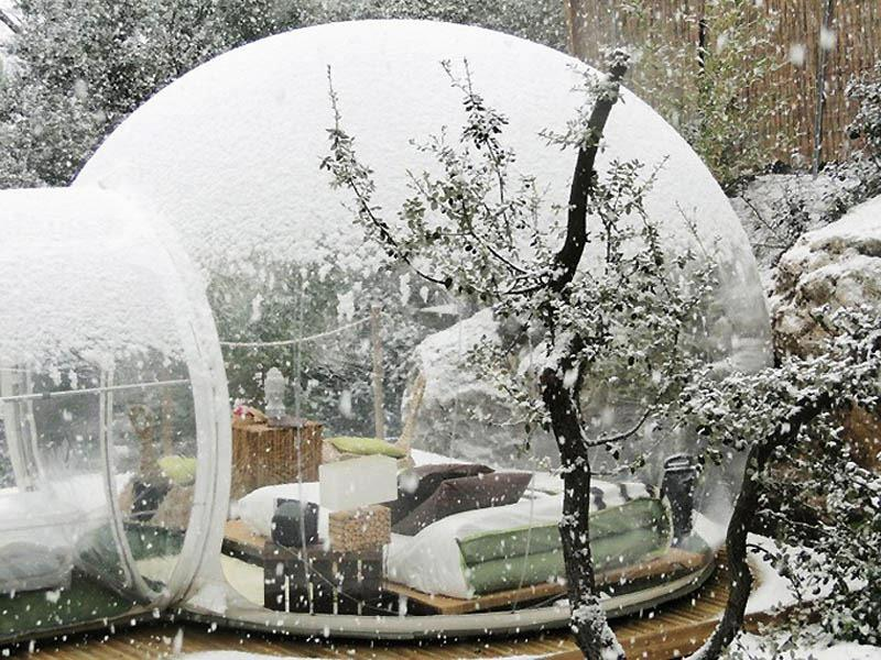 bubble rooms in hotel - france