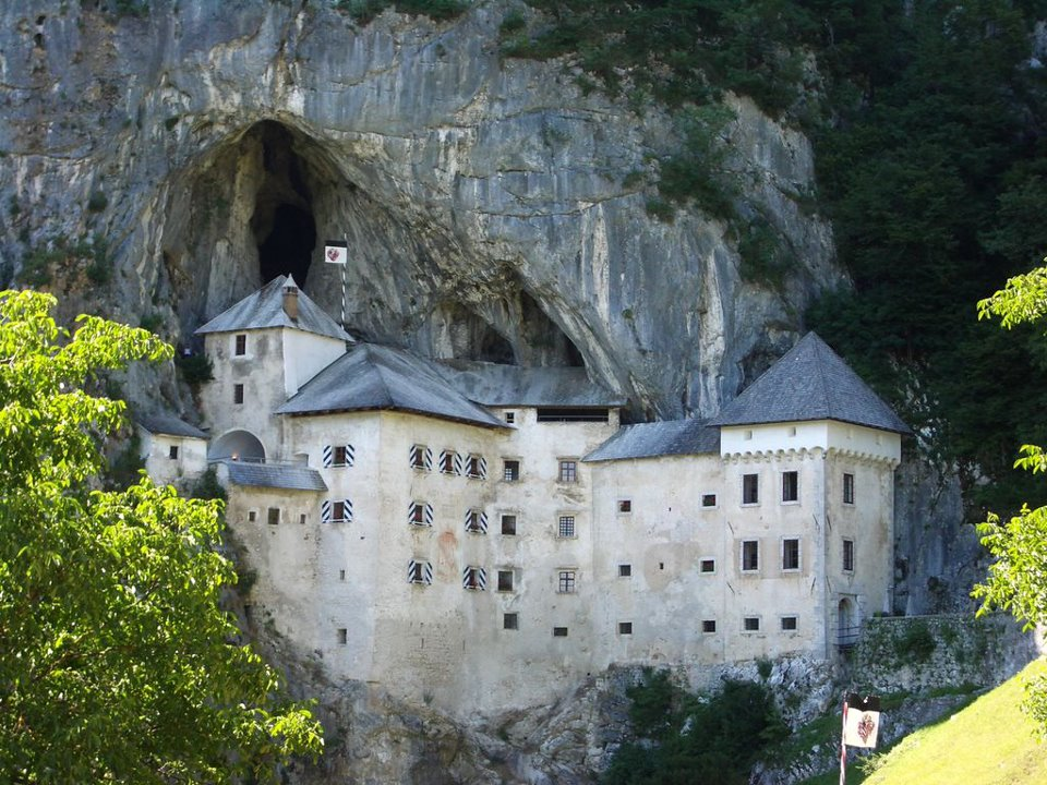 Predjama Castle - a Renaissance castle built within a cave mouth in Slovenia