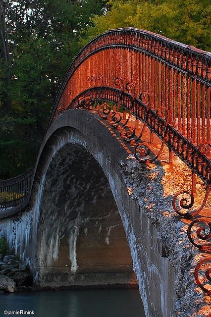 Bridge on Fire , Sibley, Trenton, MI  by Jamie Mink