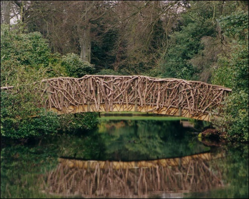 Rustic bridge, Tatton Park, Cheshire (in a Japanese garden)
