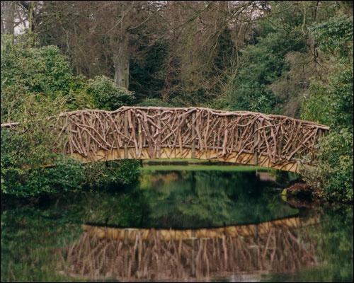 Rustic bridge, Tatton Park, Cheshire (in a Japanese garden)
