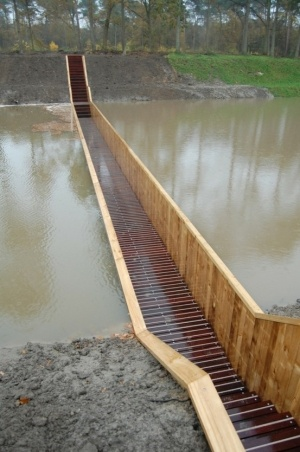 Sunken Moses Bridge in Halsteren, The Netherlands