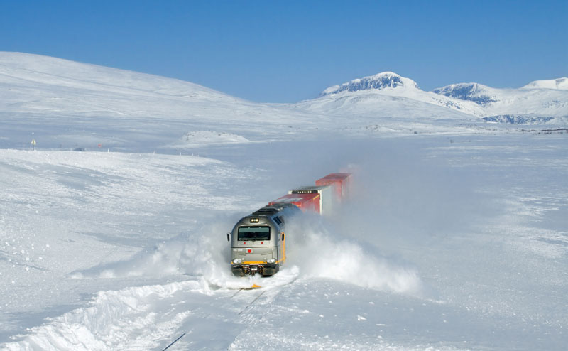 roads, paths, train in snow