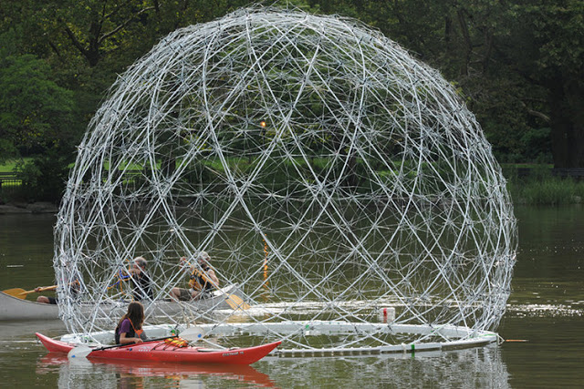 human ingen, A Floating Orb Fashioned from Hundreds of Discarded Umbrella Frames, see word