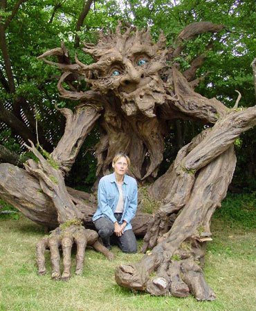 The Troll is a 12 foot sculpture built by Kim Graham