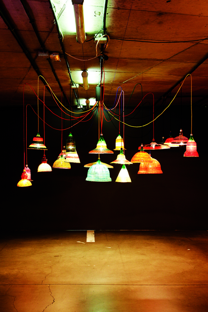 human ingen, plastic bottle lamps