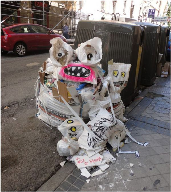 human ingen, trash art