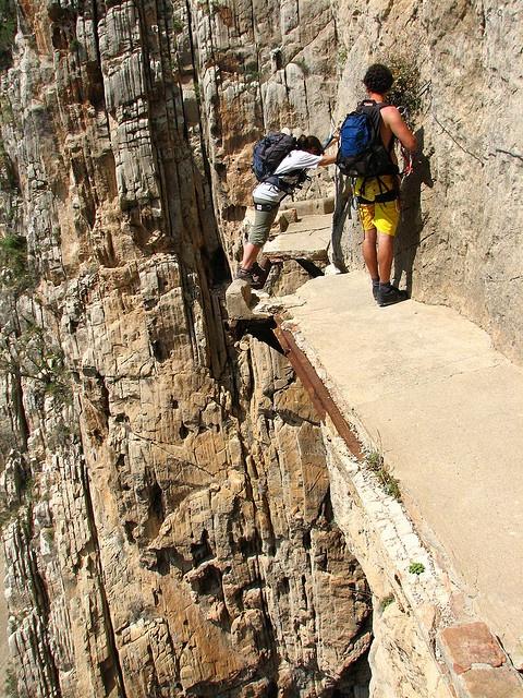 Heavens, the tiny path isn't bad enough.  It's broken.  Camanito del Rey, by Gabirulo on Flickr