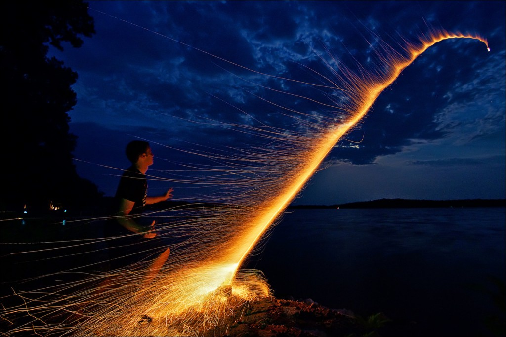 Photo by Dan Anderson, a bottle rocket