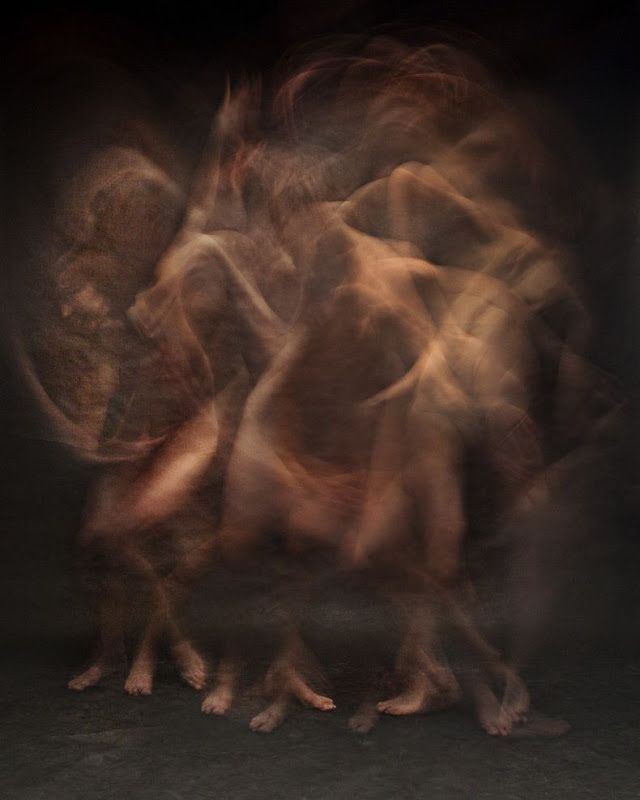 Photographer Bill Wadman has captured 9 dancers in flowing motion.