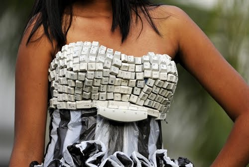 recycling, dress