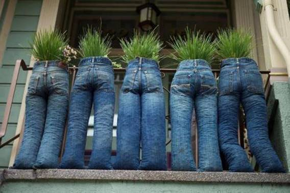 recycling, jeans