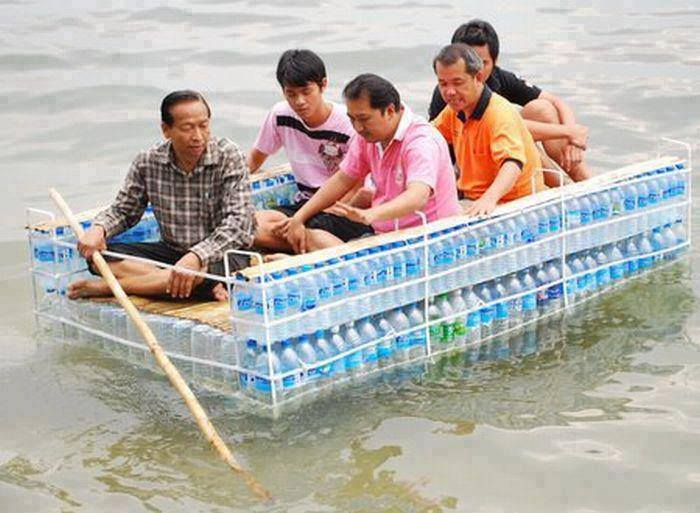 recycling raft
