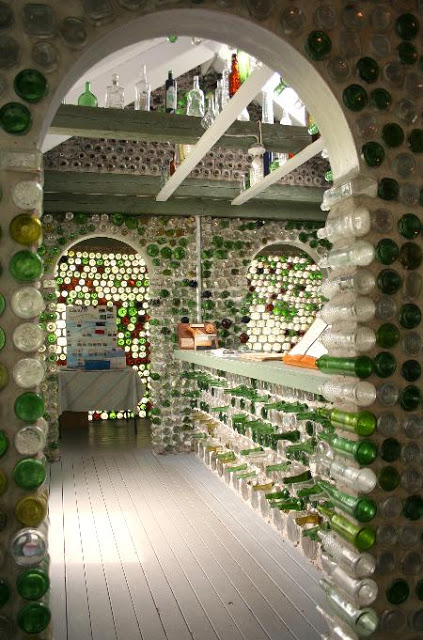 recycling, room of  bottles