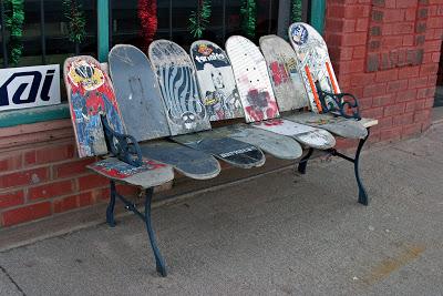 Skateboarding bench