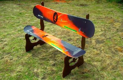 Snowboarding bench