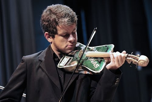 recycling, violin