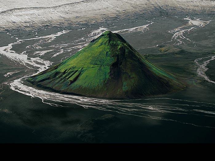 Maelifell, bordering the Myrdalsjökull glacier, Iceland