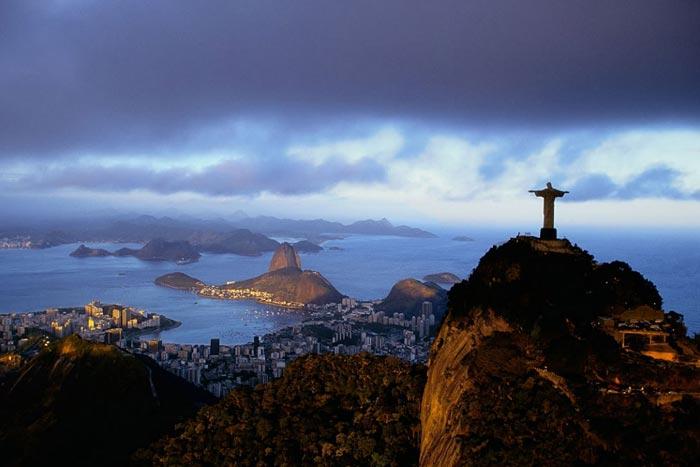 The Corcovado overlooking the city of Rio de Janeiro, Brazil