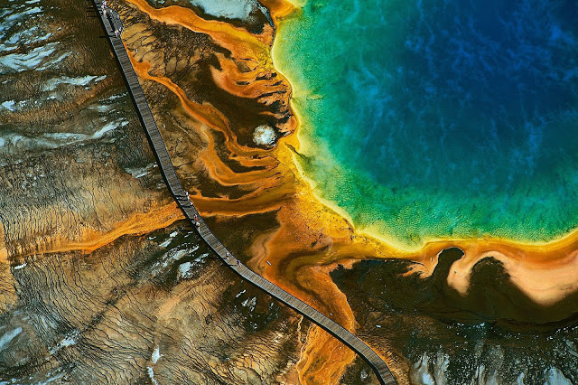 Grand Prismatic Spring, Yellowstone National Park, US