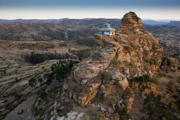Church on the top of a rock near Hawzen, Tigray Region, Ethiopia