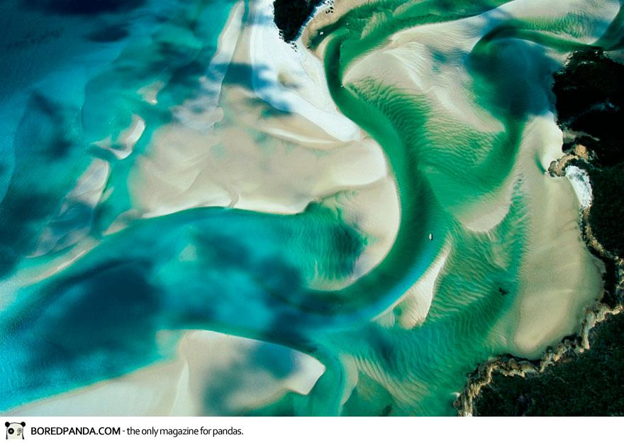 Sandbank on the Coast of Whitsunday Island, Queensland, Australia