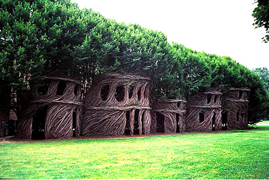 trees, Patrick Dougherty's Mind-Blowing Nest Houses Made of Living Trees