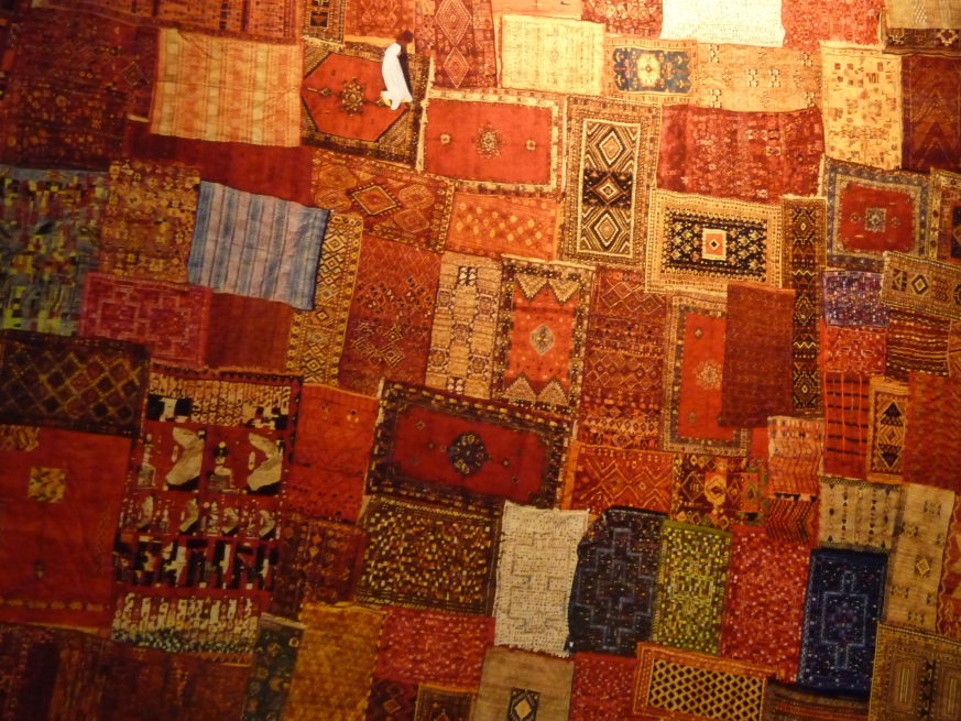 Patchwork of Carpets in Marrakech, Morocco