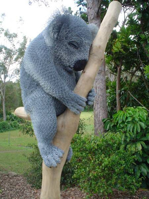 This wire koala bear is by Ivan Lovatt.
