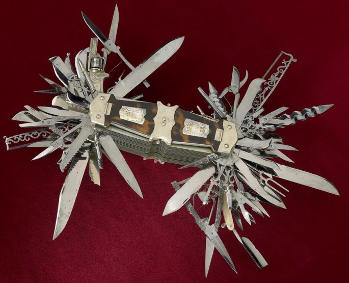 human ingen, new, via gary 10 years before Swiss army knives went into production around 1890, John S. Holler created this beast of a multi-tool…