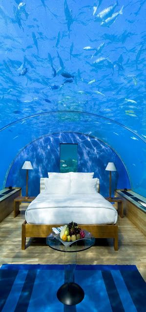 Underwater room, Conrad Maldives Rangali Island, Maldives