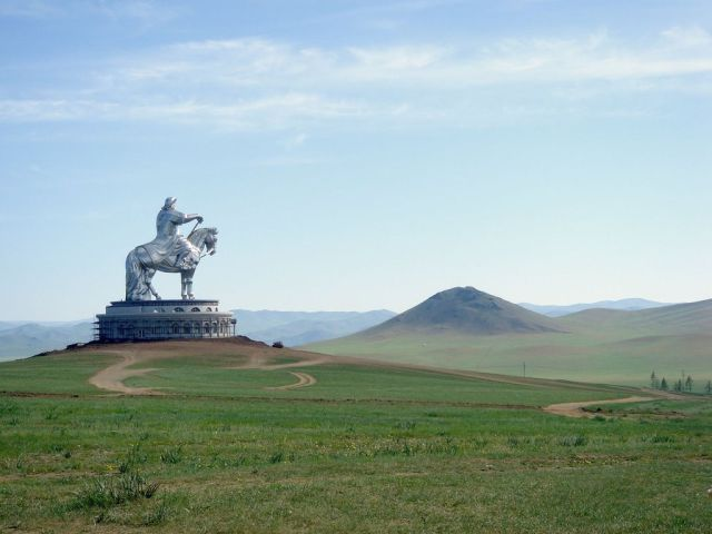 Ghenghis Khan on the Mongolian Steppes