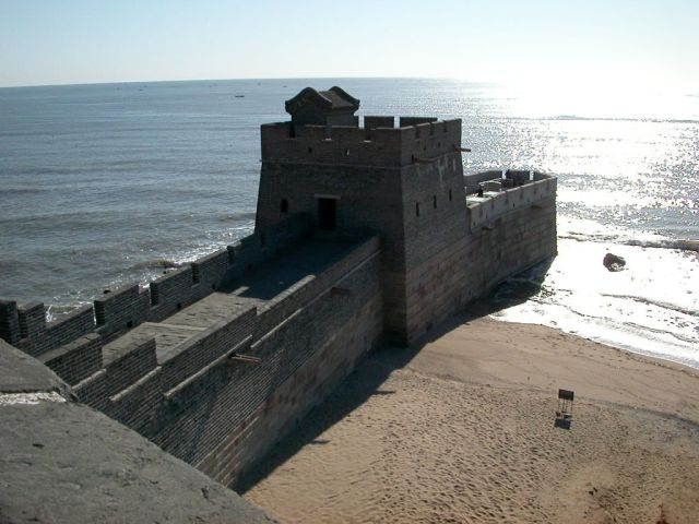 Shan Hai Guan. Where the great wall of China meets the sea