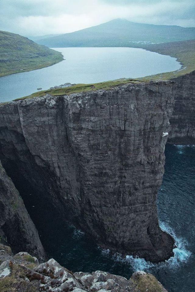 Sorvagsvatn - lake over the ocean, Faroe Islands