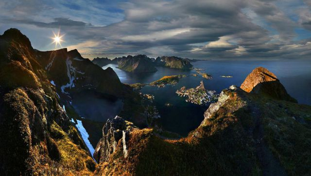 Sunrise over Lofoten, Norway
